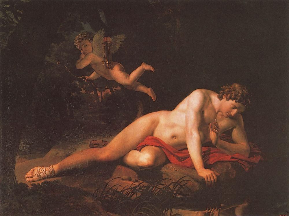 the narcissus by karl bryullov narcissus echo  the narcissus by karl bryullov 1819