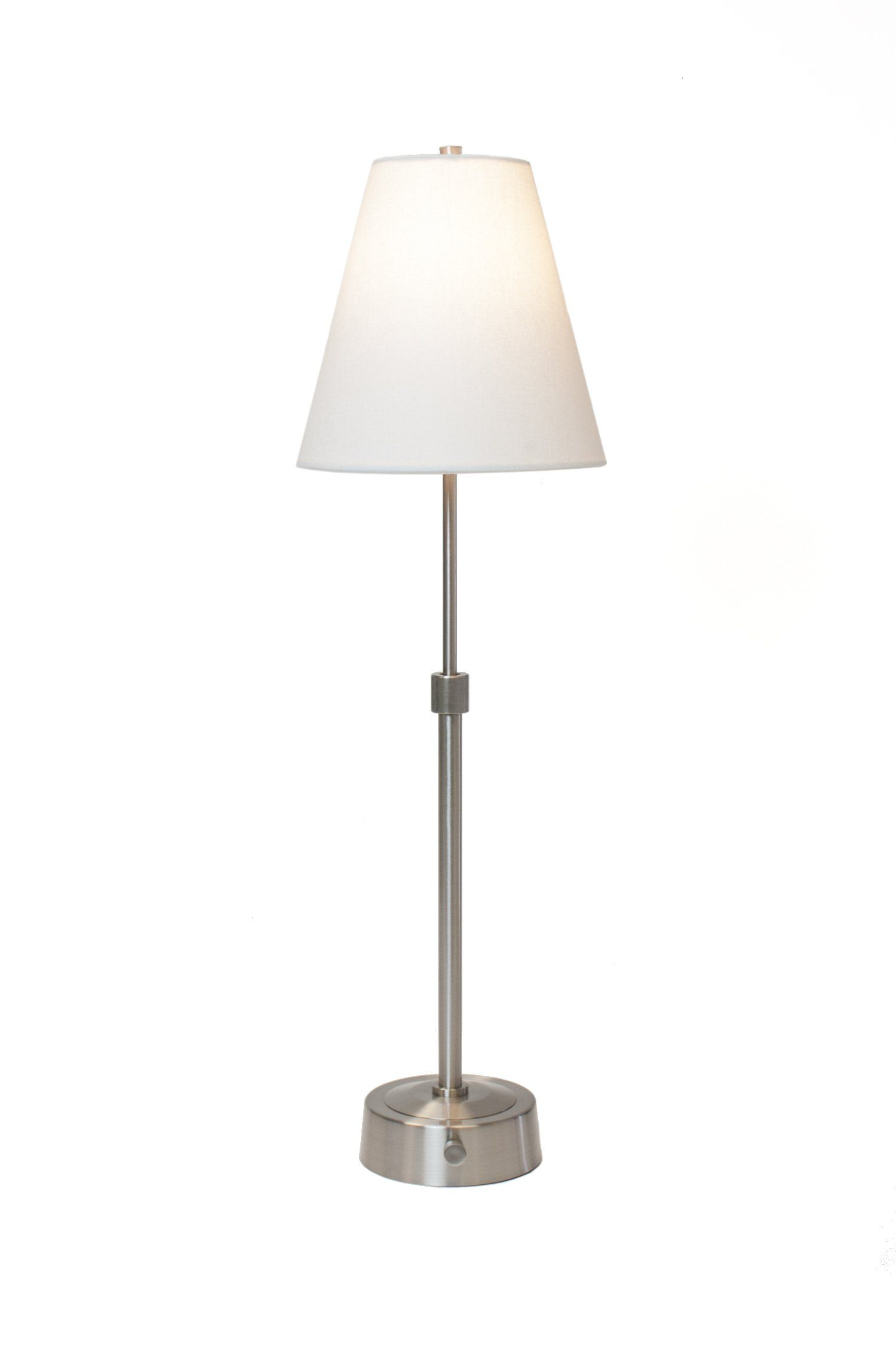 Mini Telescopic Battery Operated Cordless Lamp In Nickel