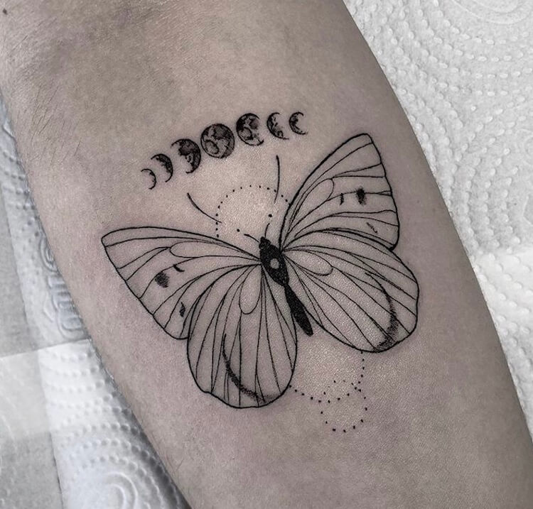 27 Simple Butterfly Small Tattoo Designs in 2020