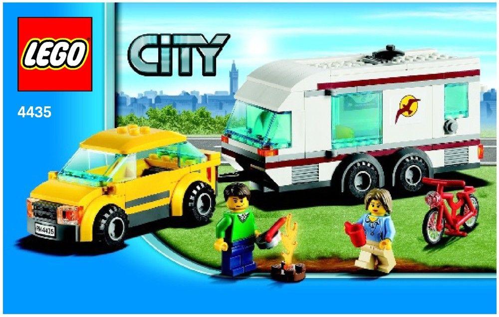 Car And Caravan Lego 4435 00 Lego Box Or Cover Pinterest