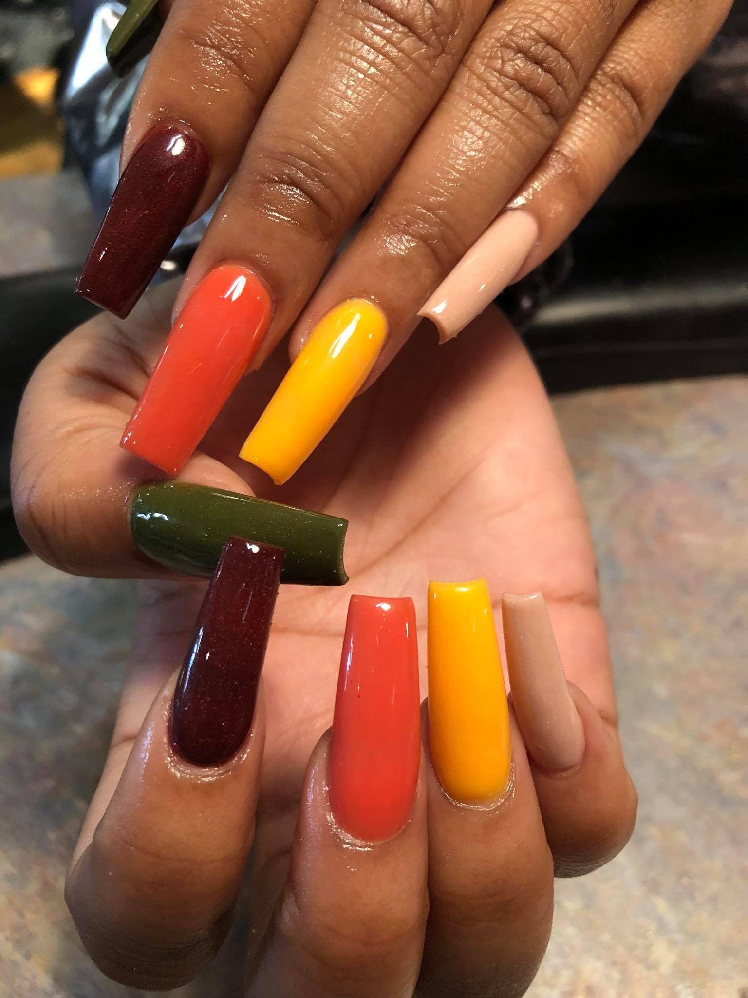 E8e2f98fe055f6a240dae512f2480cdb Jpg 736 702 Pixeles Fall Acrylic Nails Luxury Nails Orange Nails