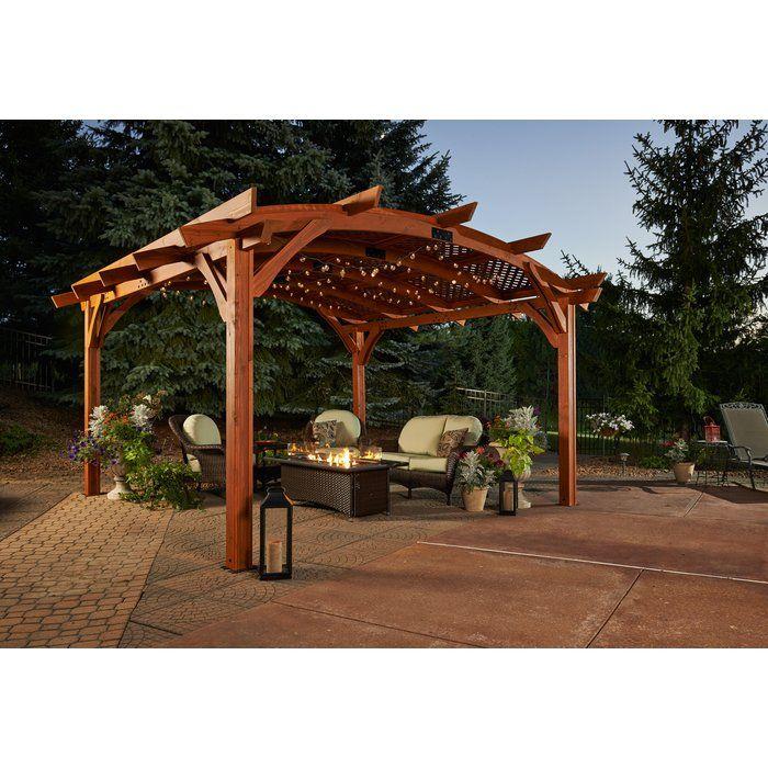 Sonoma 16 Ft W X 16 Ft D Solid Wood Pergola Wood Pergola Outdoor Pergola Pergola