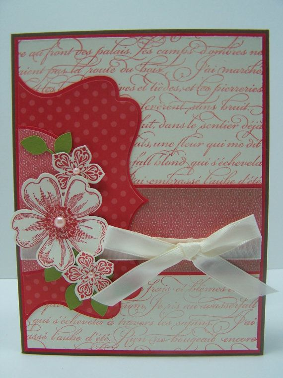 Stampin Up Handmade Greeting Card Happy Birthday Card Mom Wife