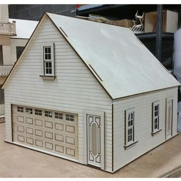 This Is The Lansdowne 2 Car Garage Workshop In 1 12 Scale This Kit Is Made From Solid 1 4 6mm Baltic Birch Plywood Cabin Dollhouse Log Cabin Dollhouse Kits