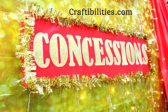 FREE downloadable gold glitter letters - DIY Concessions IDEAS