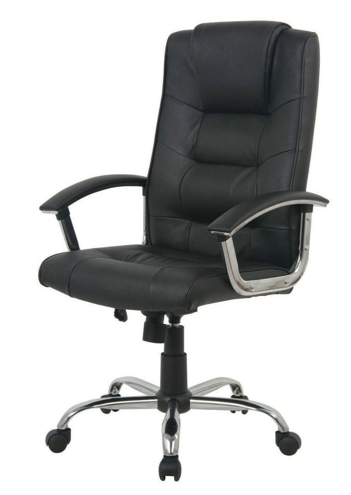 Berlin Leather Faced Executive Office Chair In Black Business Equipment Supplies Furniture Ebay