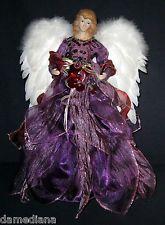 Angel Purple Dress Tree Topper Google Search Christmas Tree