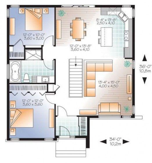 Dise os de casas de campo con planos y fachadas for Construccion casas de campo