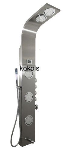 Multi Head Shower Systems   Bathroom Shower Tower System Stainless Panel Multi  Jet Column Spa .