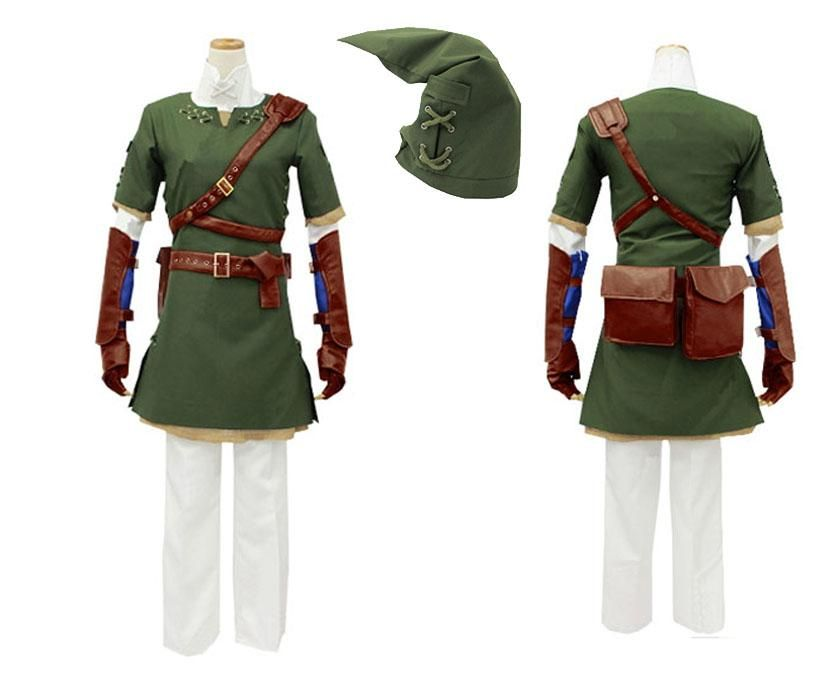Legend Of Zelda Twilight Princess Link Cosplay Costume Tunic Outfit ...