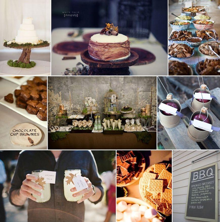 Rustic Barn Wedding Food Ideas: ... Forest Wedding. Rustic Forest Themed