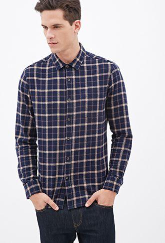 Plaid Flannel Shirt 21 Men 2000121054