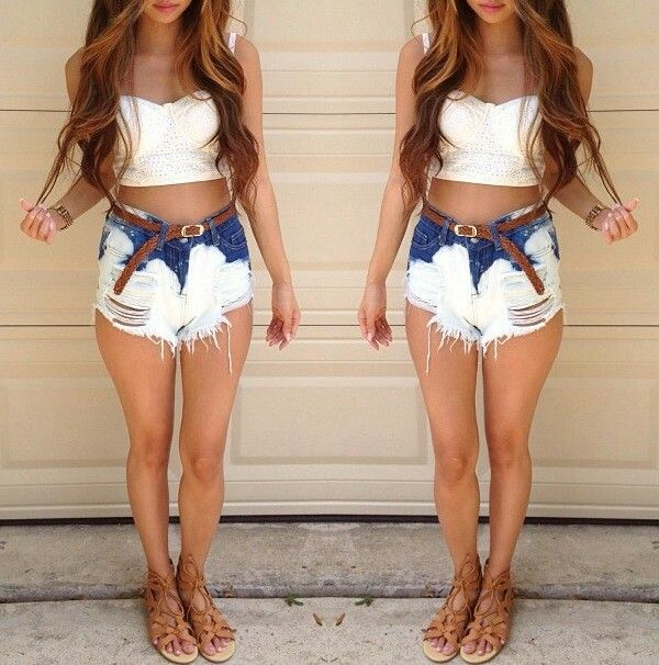 Bleached high waisted shorts | ^High waisted^ | Pinterest | Shorts ...