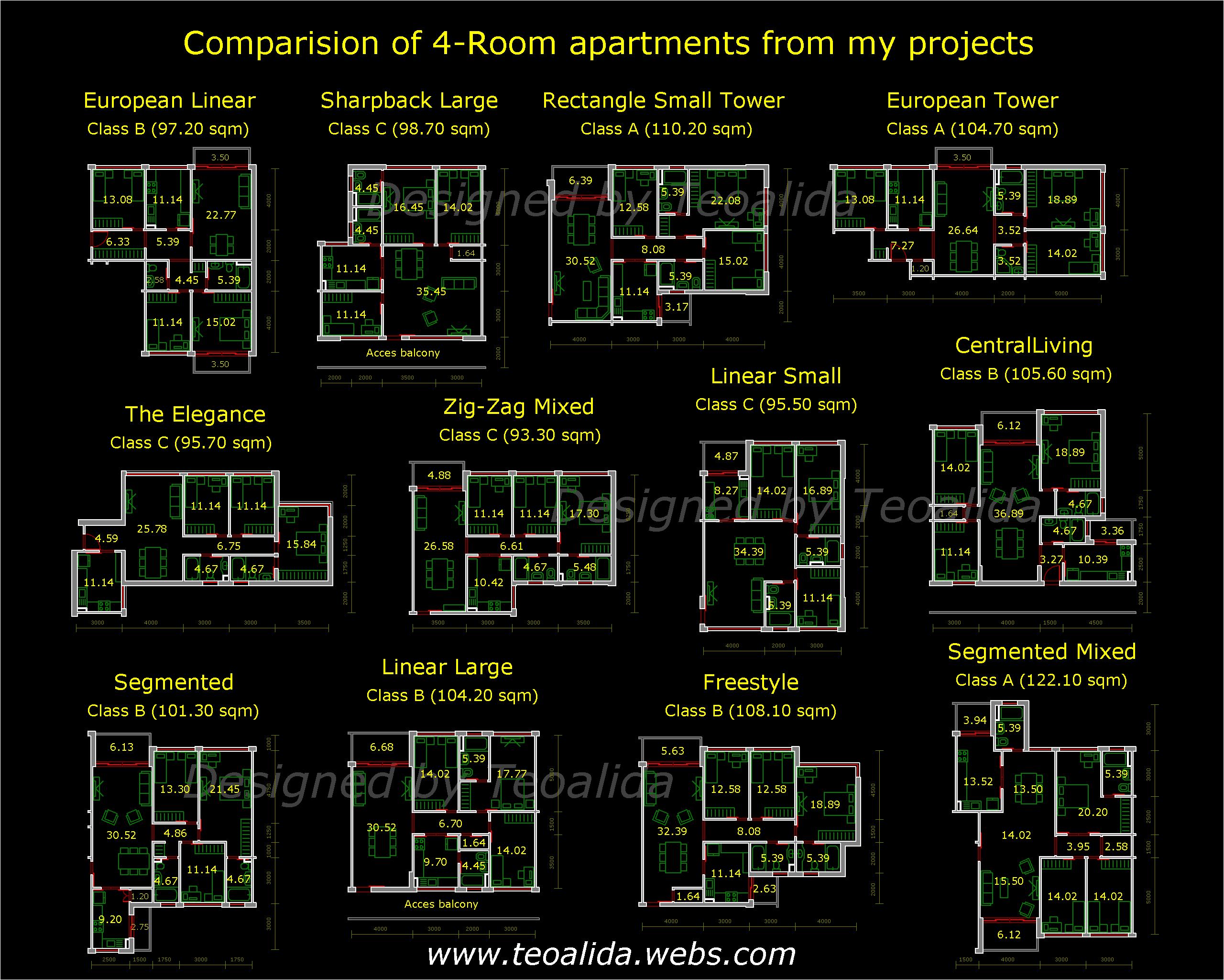 apartment plans 30-200 sqm & architecture design services