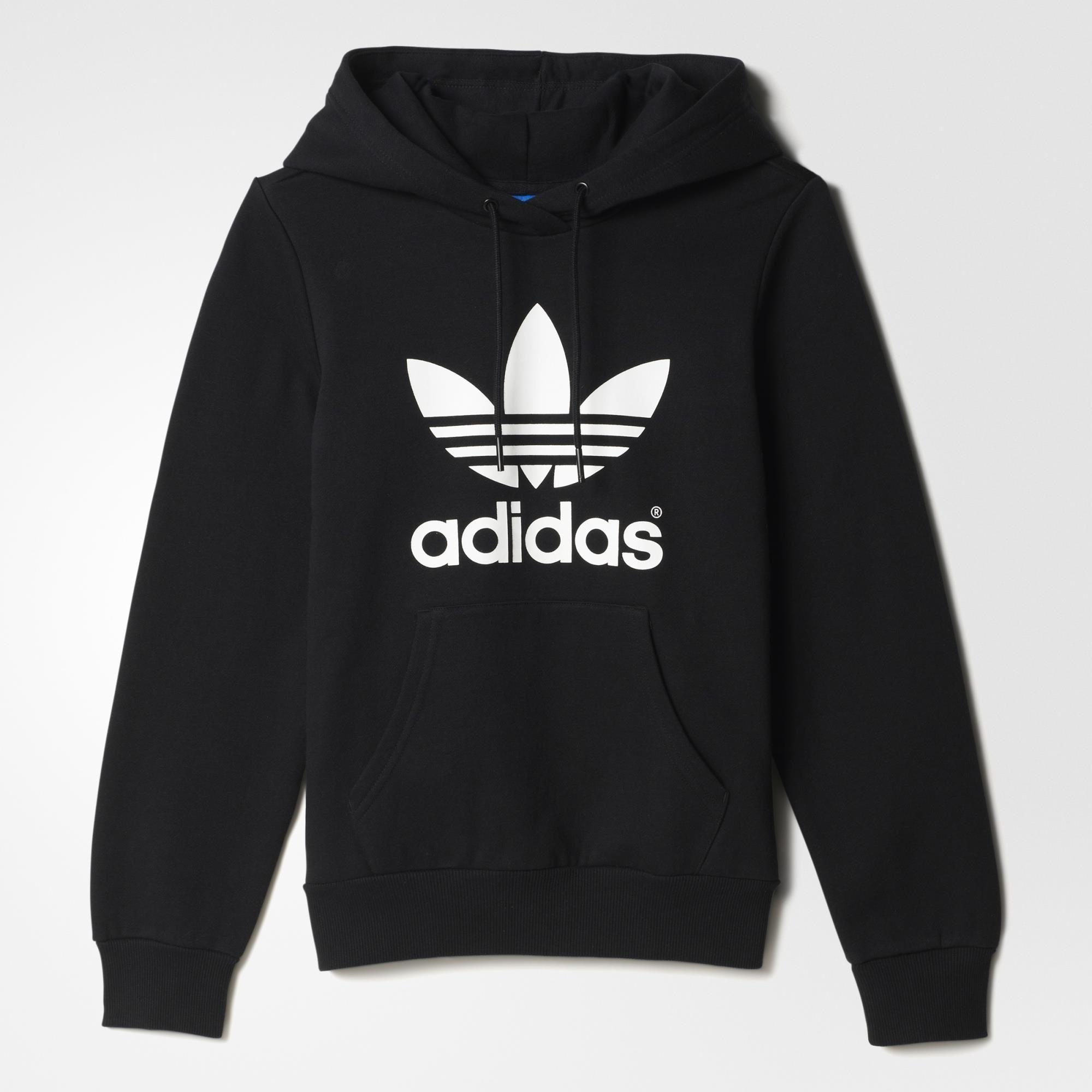 Adidas Trefoil Hoodie Black Adidas Uk Adidas Pullover Adidas Trefoil Hoodie Hoodies [ 2000 x 2000 Pixel ]