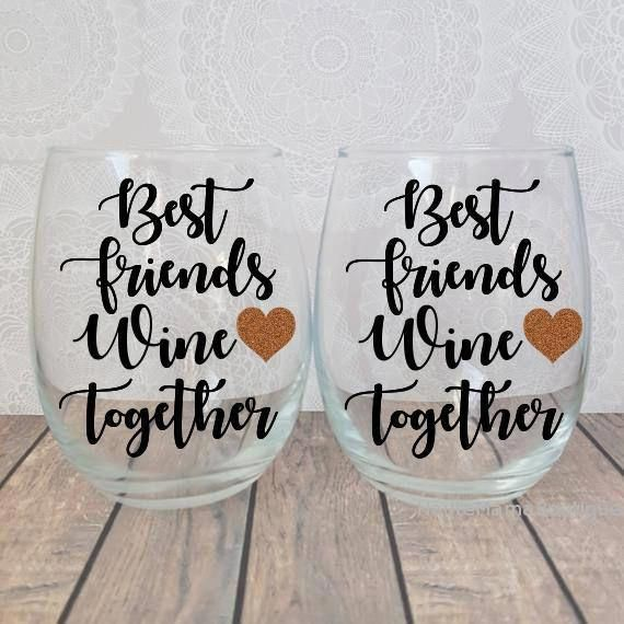 Best Friend Wine Glass, Best Friend Wine , Best Friend, Best Friend Wine Glasses, Best Friend Gift, Bestie Wine Glass, Best Friend Christmas