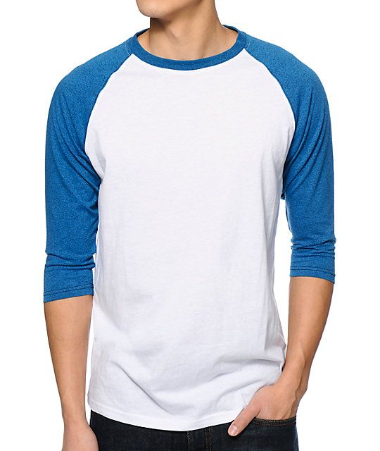 b67b76f6 Zine 2nd Inning White & Ocean Speckle Blue Baseball Shirt in 2019 |  Certified Heroes (Inspiration Board) | Baseball shirts, Baseball tee shirts,  Heather ...