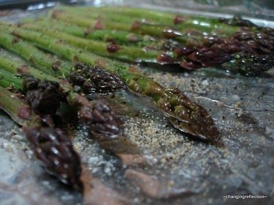 Best asparagus ever...Add olive oil salt pepper Parmesean; Bake 400 for 8 min for andrew