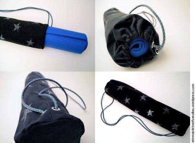 Matchbeutel - eine Tasche für die Yoga-Matte selber nähen   nähen ...