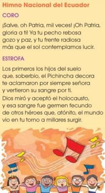 Significado Del Himno Nacional Del Ecuador Y Sus Estrofas Himno Nacional Letra Del Himno Nacional Himnos