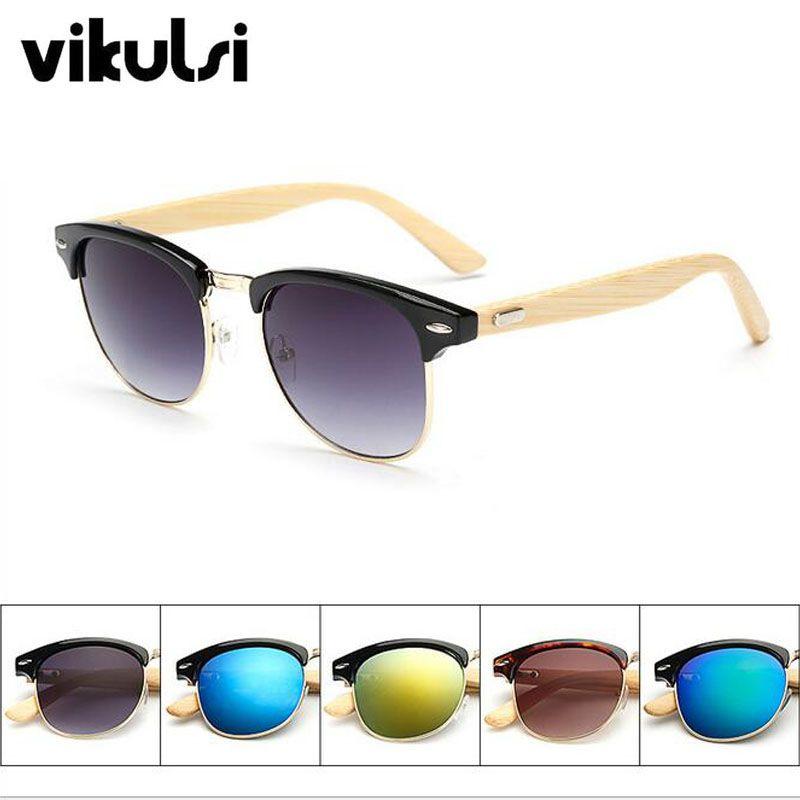 2e90187e832 Classic Handmade Bamboo Wood Sunglasses Male Female Cute Design Gafas  Sunglasses Mirror Sun Glasses Fashion Gafas Oculos De Sol  Affiliate