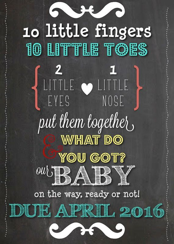 announce your pregnancy to family and friends with this colorful and fun chalkboard announcement. Black Bedroom Furniture Sets. Home Design Ideas