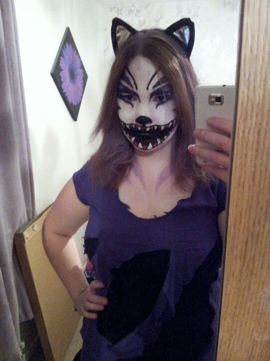 scary cheshire cat makeup face paint cat fancy dress halloween halloween