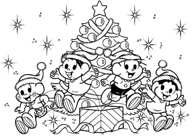árvores De Natal Para Imprimir E Pintar Desenhos Para