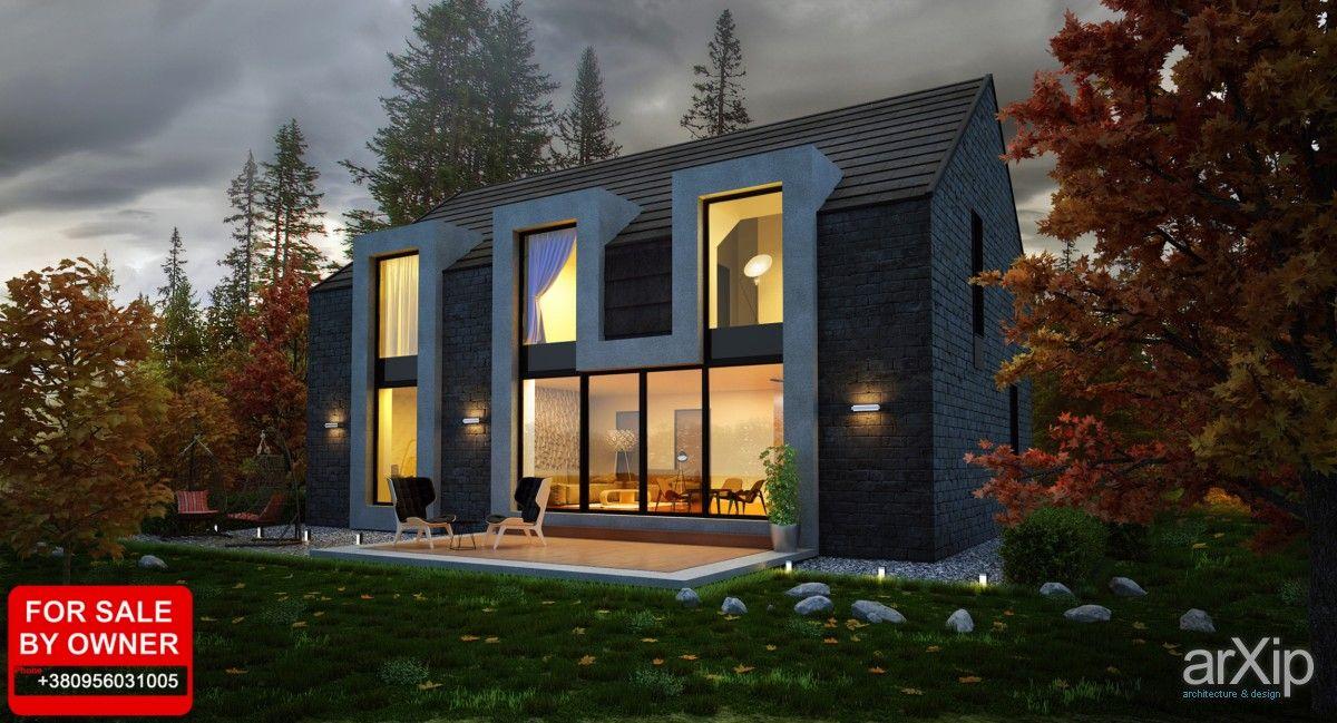 Осеннее настроение #architecture #2floors_6m #housing #eclecticism #200_300m2 #frame_ironconcrete #cottage #mansion #facade_stone
