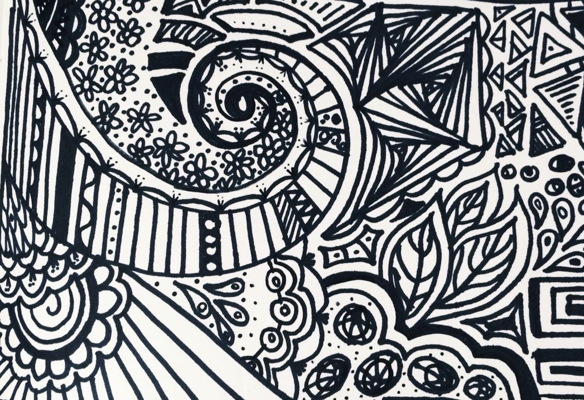 • Swirls and flowers are lovely to draw