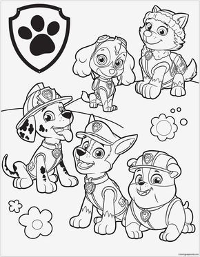 Paw Patrol Malvorlagen Spannende Coloring Bilder Paw Patrol 39