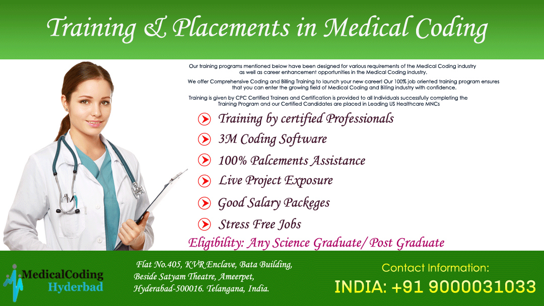 We Are Providing A Medical Coding Training In Hyderabad Join
