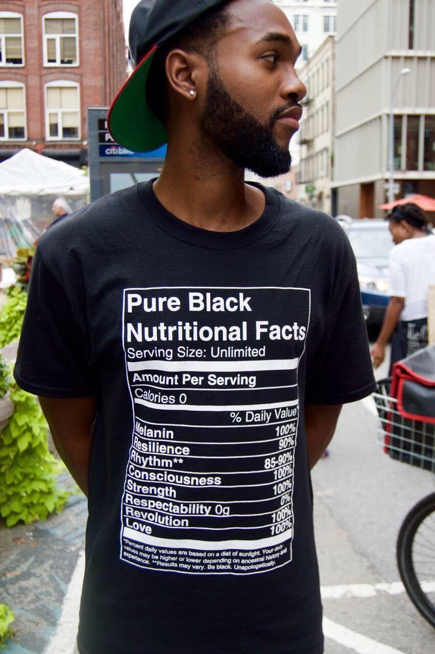 Pure Black Nutritional Facts Shirt teespring.com/stores/pure-black ...