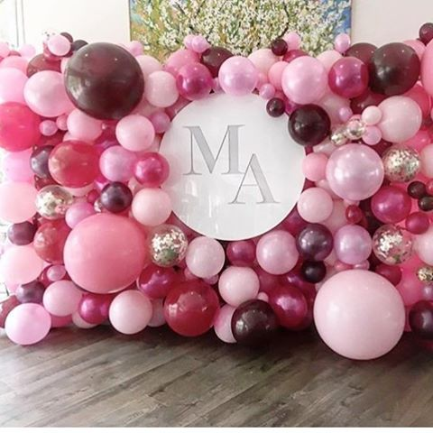 Balloon event stylist instagram photos for Balloon decoration on wall