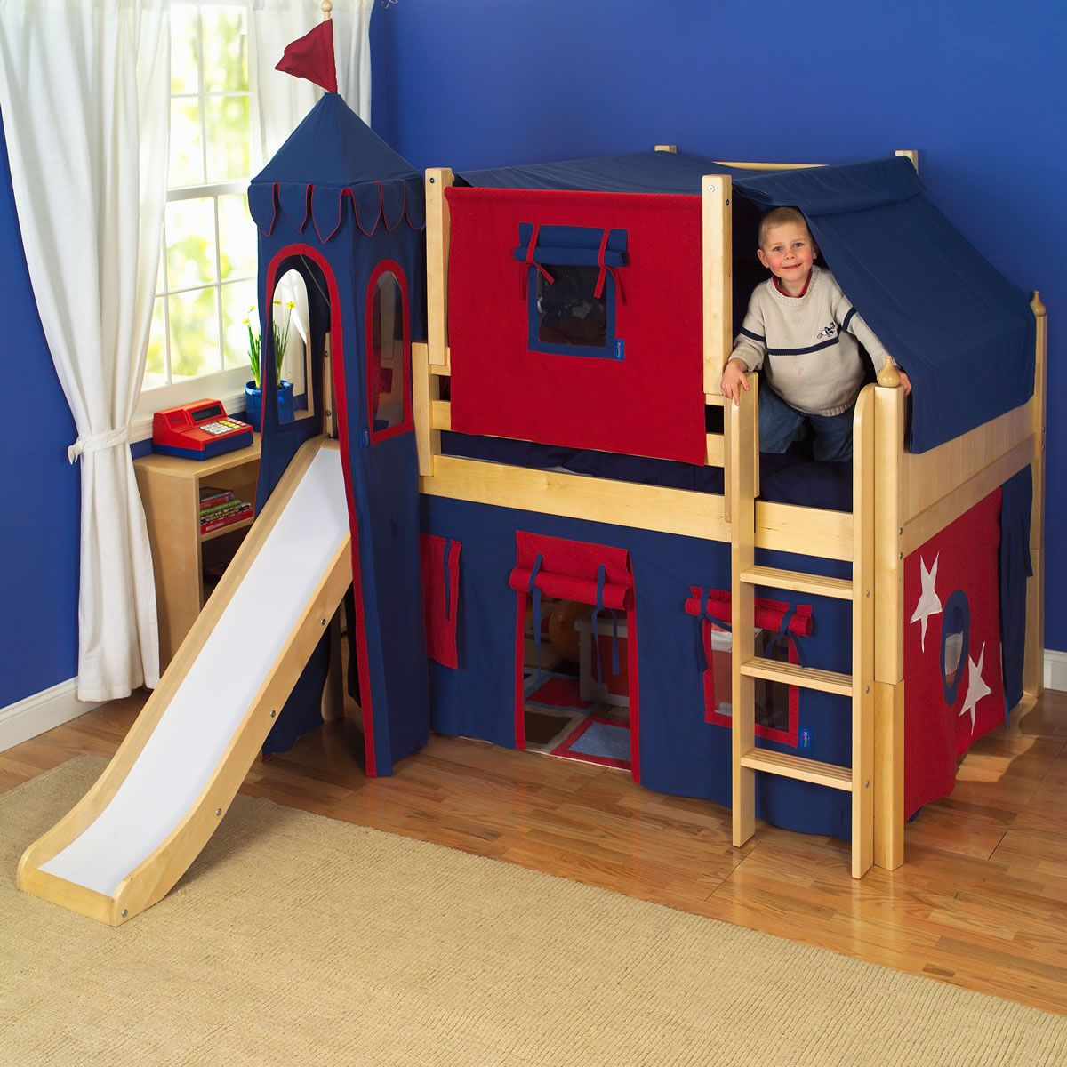 Castle Bunk Beds For Boys Shown In Natural Birch Finish Click