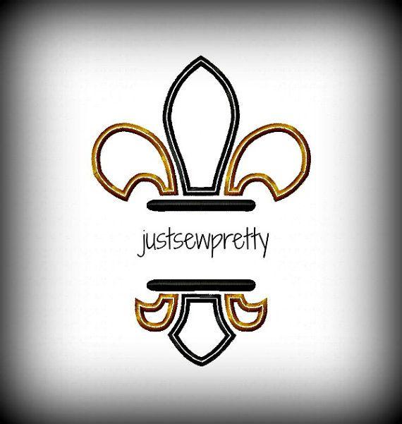 4x4 Monogram Fleur De Lis FDL Embroidery Applique by justsewpretty, $4.00