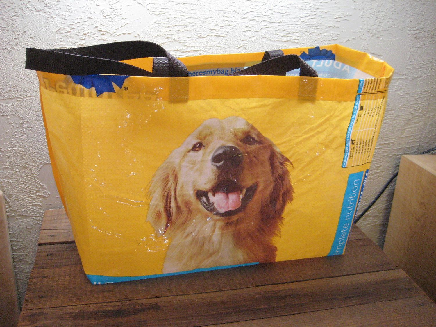 Recycled Upcycled Reusable Extra Large Dog Food Market Tote Bag