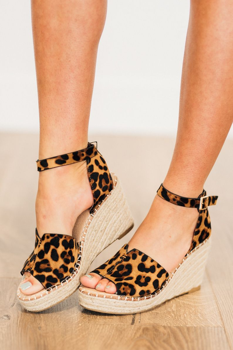 d01c7863cd98 Chrissie Espadrille Wedges Textured animal print espadrille wedge sandals  for the perfect height heel! Spring outfit, spring shoes
