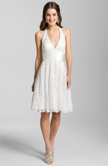 Aidan Mattox Lace Halter Dress available at Nordstrom