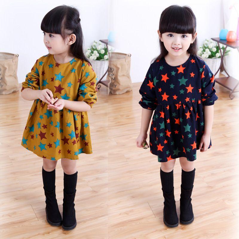 $25.28 (Buy here: https://alitems.com/g/1e8d114494ebda23ff8b16525dc3e8/?i=5&ulp=https%3A%2F%2Fwww.aliexpress.com%2Fitem%2FKids-Girl-Clothes-Dress-Autumn-Loose-Dress-Full-Star-Print-Long-Sleeve-Blue-Yellow-outique-Children%2F32718909730.html ) Kids Girl Clothes Dress Autumn Loose Dress Full Star Print Long Sleeve Blue Yellow outique Children Clothing Children Dress for just $25.28