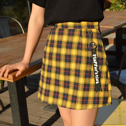 9eb8bf0e1 Pink/ yellow Trendy checker skirt with heart ring sold by M o l a M o l a s  t o r e on Storenvy