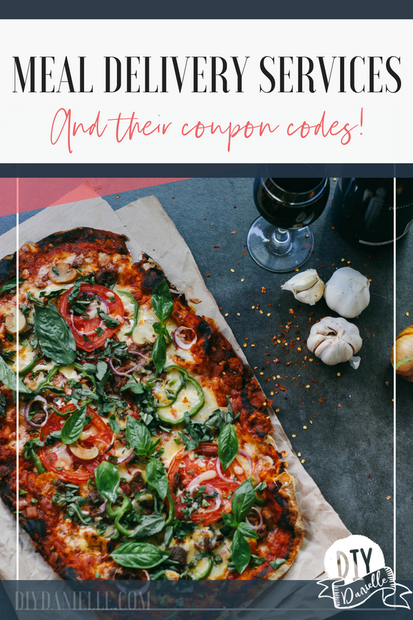 Meal Delivery Service Options and Coupon Codes DIY