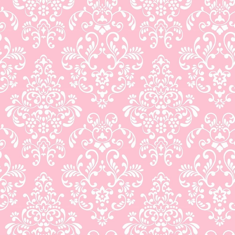 Wallpaper For Tween Girls: Details About Pink White Damask Wallpaper