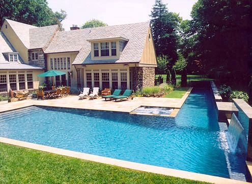 Adding A Lap Lane To Free Form Pool Google Search Lap Pools Backyard Residential Pool Lap Pool Designs