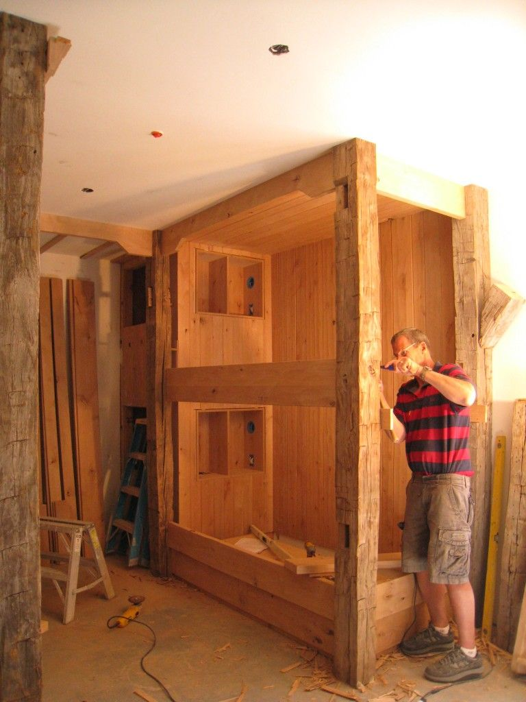 Best Rustic Built In Bunk Beds Large Families Someday When 400 x 300
