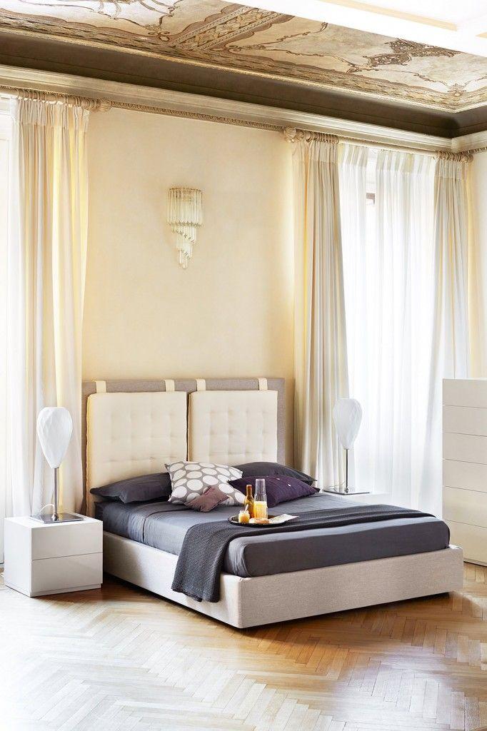 Camera da letto a tinte chiare   Letto   Pinterest   Camera da letto ...