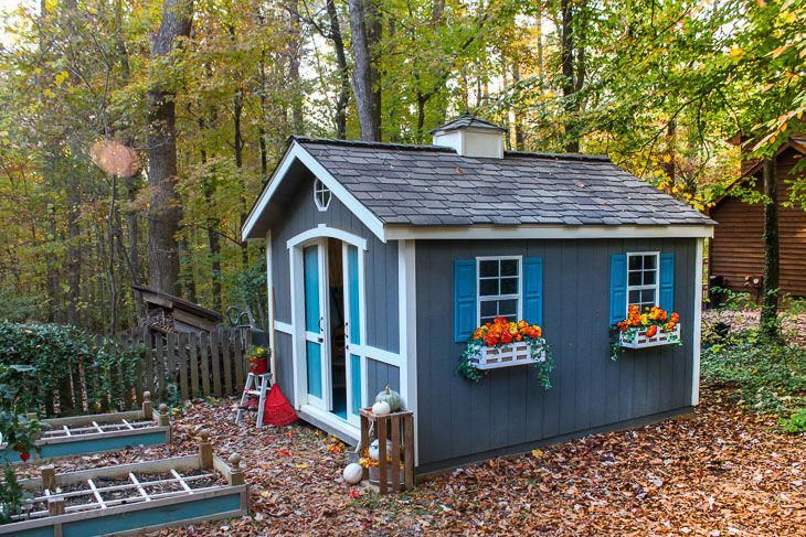 Learn How to Build a Cute Garden Shed Before you think that you