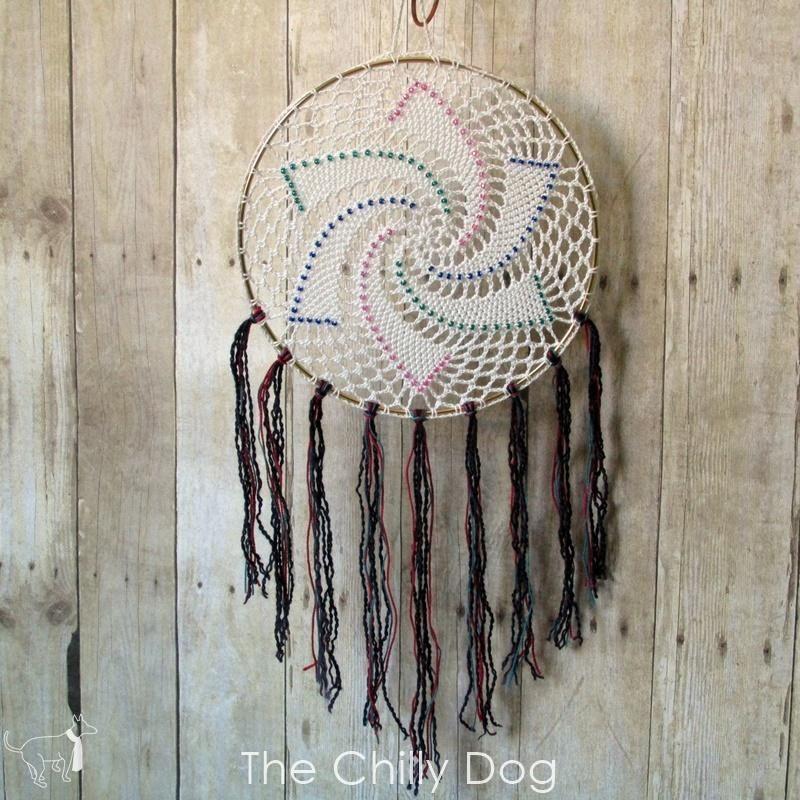 Beaded Crochet Dreamcatcher Crochet Pattern Pdf Crochet