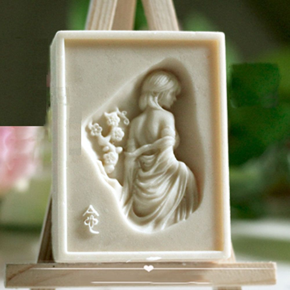 Soap mold silicone craft girl rectangle soap making mould diy candle
