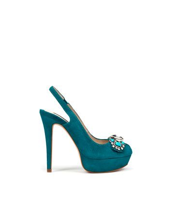 e0f079c725 teal suede platform slingbacks, yes yes yes!!! except for the shoe clip  though ;) #heels #shoes